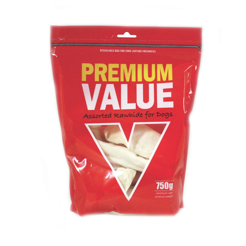 Premium Value Assorted Rawhide Dog Chews 750g To 10 X 750g