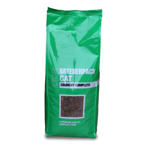 Breederpack Crunchy Complete Cat Food 2.5kg To 15 X 1kg