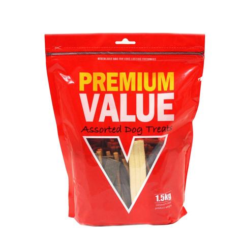 Premium Value Assorted Dog Treats 1.5kg