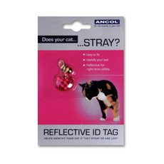 Reflective Plastic Cat Id Tag