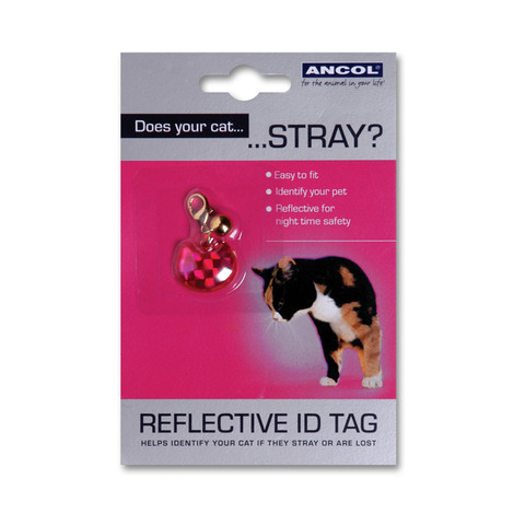 Reflective Plastic Cat Id Tag  To 12 X