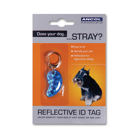 Reflective Plastic Dog Id Tag  To 12 X