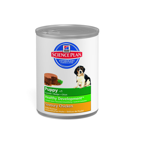 Hills Science Plan Puppy Food Can With Chicken 12 X 370g