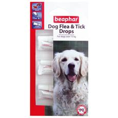 Beaphar Flea Drops For Large Dogs 12 Week Treatment 6ml