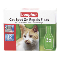 Beaphar Cat Spot On Flea Repellant Drops 12 Weeks 3ml