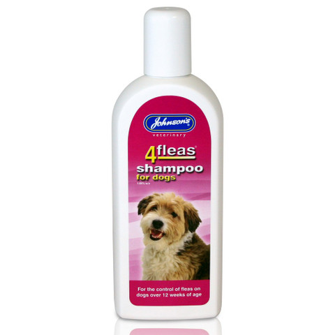 Johnsons 4 Fleas Insecticidal Shampoo For Dogs 240ml