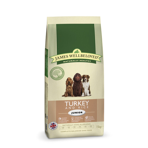 James Wellbeloved Junior Dog With Turkey And Rice 2kg To 15kg