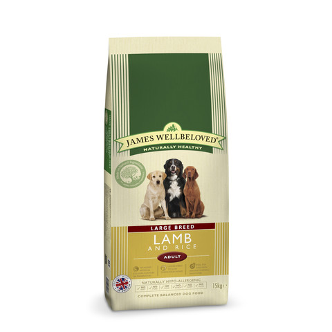 James Wellbeloved Adult Large Breed With Lamb And Rice 15kg To 2 X 15kg