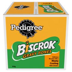 Pedigree Biscrok Gravy Bones Dog Biscuits With Chicken 10 X 1kg