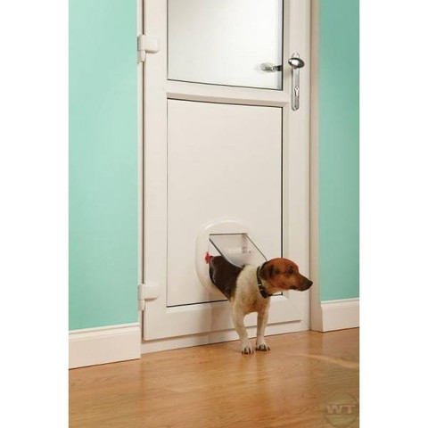 Staywell Big Cat Small Dog 280 4 Way Pet Door In White