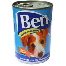 Ben Adult Premium Chunks Dog Food With Chicken 12 X 400g