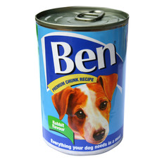 Ben Adult Premium Chunks Dog Food With Rabbit 12 X 400g