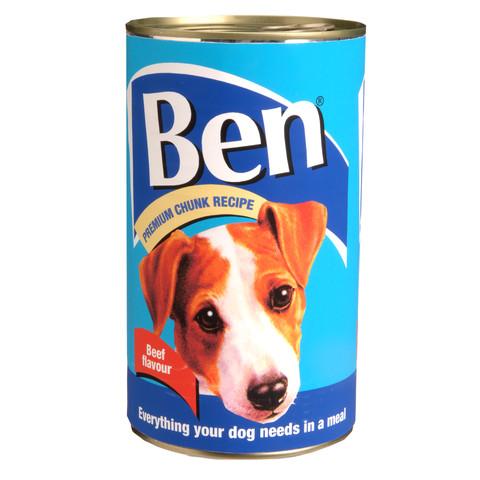 Ben Adult Premium Chunks Dog Food With Beef 6 X 1200g