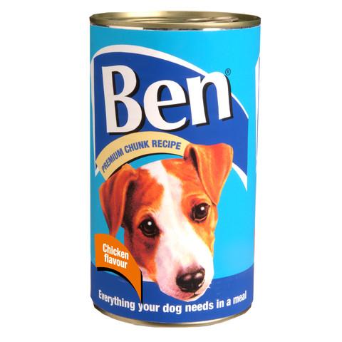 Ben Adult Premium Chunks Dog Food With Chicken 6 X 1200g