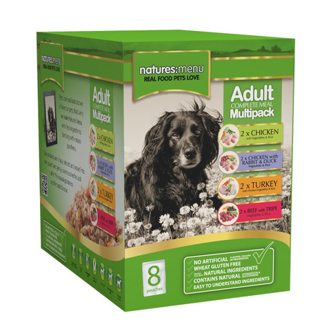 Natures Menu Dog Adult Multipack Pouches 8x300g Kennelgate