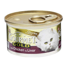 Gourmet Gold Cat Food With Chicken And Liver 12 X 85g