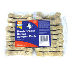 Good Boy Fresh Breath Bonies Rawhide Treat Bulk