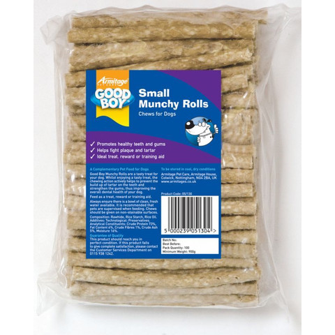 Munchy Sticks Natural Dog Treat 100 X 5 Inch