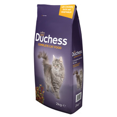 Duchess Complete Dry Cat Food With Chicken, Duck And Vegetables 2kg To 6 X 2kg