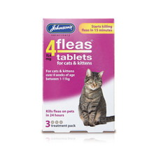 Johnsons 4fleas Tablets For Cats & Kittens 3 Tablets