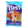 Ben Dental Twist Dog Treats With Pumice And Peppermint 180g To 12 X 180g