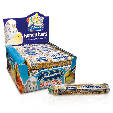 Johnsons Honey Bar For Budgies And Parakeets 35g To 40 X 35g