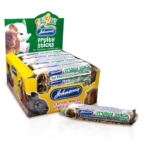 Johnsons Fruity Stick For Hamsters And Gerbils 45g To 28 X 45g
