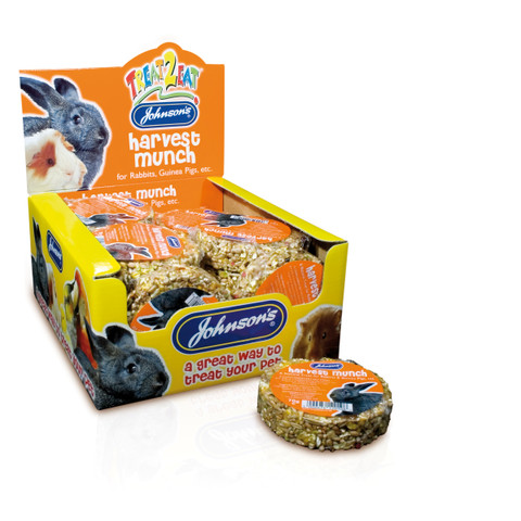 Johnsons Harvest Munch For Rabbits And Guinea Pigs 70g To 18 X 70g