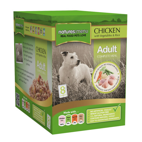 Natures Menu Dog Pouch With Chicken 8 X 300g