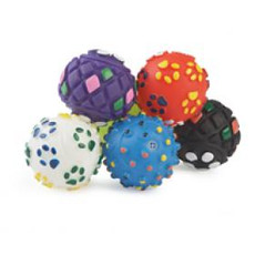 Ancol Small Bite Vinyl Ball Dog Toy 6 Pack