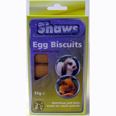 Shaws Egg Biscuits For Small Animals 35g