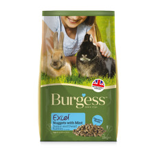 Burgess Excel Junior And Dwarf Rabbit Nuggets With Mint 2kg To 10kg