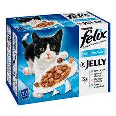 Felix Standard Adult Cat Pouch With Fish 12x100g