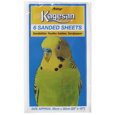 Kagesan Bird Cage No7 Red Sandsheets 6-pack To 12 X 6-pack