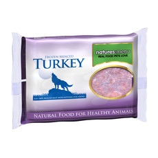 Natures Menu Minced Frozen Dog Food With Turkey 400g To 12 X 400g