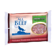 Natures Menu Minced Frozen Dog Food With Beef 400g To 12 X 400g