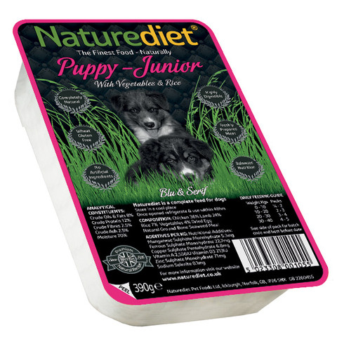 Naturediet Puppy And Junior Food With Chicken, Lamb, Vegetables And Rice 18 X 390g