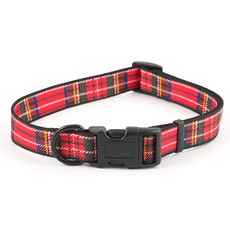 Ancol Indulgence Fashion Red Tartan Check Adjustable Dog Collar Small To Large