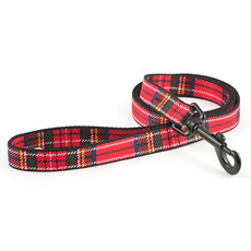 Ancol Indulgence Fashion Red Tartan Dog Lead 1m X 19mm