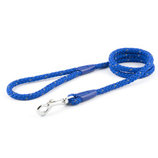 Ancol Heritage Nylon Reflective Blue Rope Dog Lead 112cm
