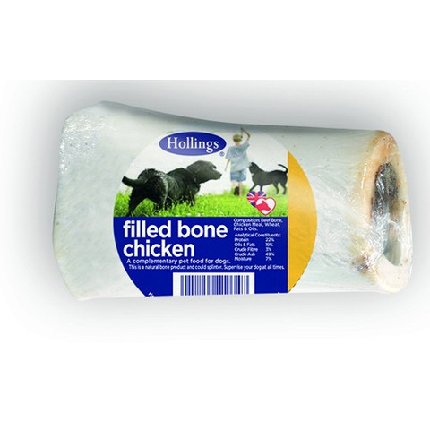 Hollings Chicken Filled Bone Dog Treat  To 20 X