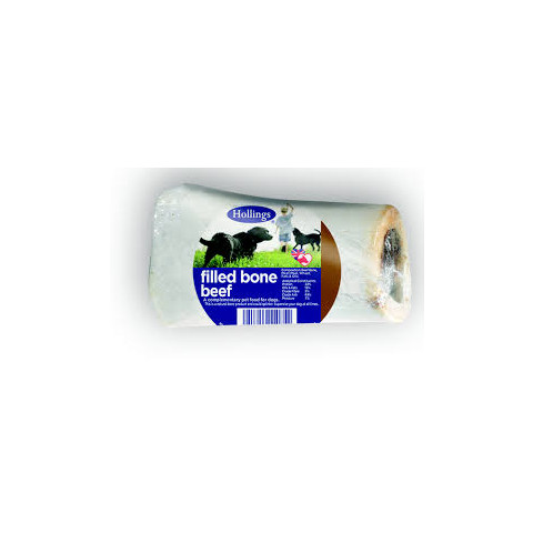 Hollings Beef Filled Bone Dog Treat 20 X  To