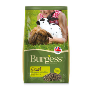 Burgess Excel Adult Rabbit Nuggets With Mint 2kg
