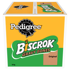 Pedigree Biscrok Gravy Bones Dog Biscuits Original 10 X 1kg