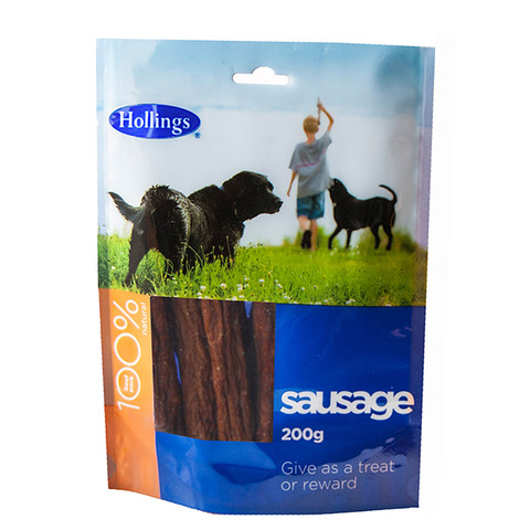 Hollings Dried Sausage Dog Treat 200g To 5 X 1kg