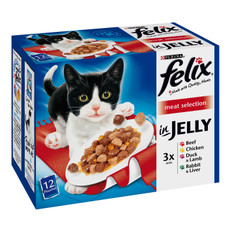 Felix Standard Adult Cat Pouch With Meat 12x100g