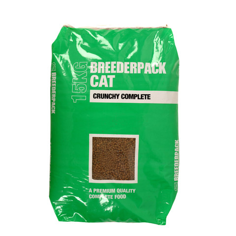 Breederpack Crunchy Complete Cat Food 6 X 2.5kg To 15 X 1kg
