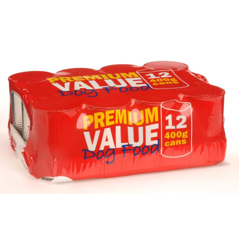Premium Value Adult Can Dog Food 12x400g