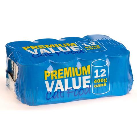 Premium Value Adult Can Cat Food 12x400g