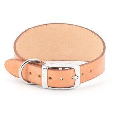 Ancol Heritage Leather Tan Whippet And Greyhound Buckle Dog Collar 47cm